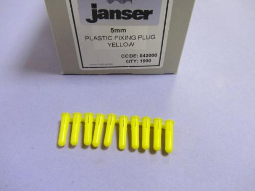 RAW PLUGS YELLOW 5mm (1000)